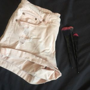 Faded glory pink distressed short